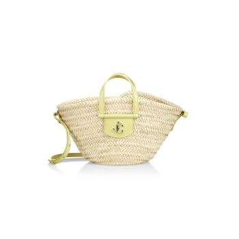 Small Macy Basketweave Tote Jimmy Choo