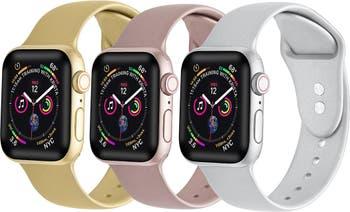 Сменные металлические силиконовые ремешки для Apple Watch - набор из 3 - 38 мм / 40 мм POSH TECH