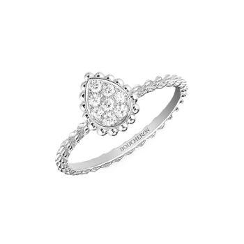 Serpent Bohème, белое золото 18 карат & amp; Очень маленькое кольцо с бриллиантом Boucheron