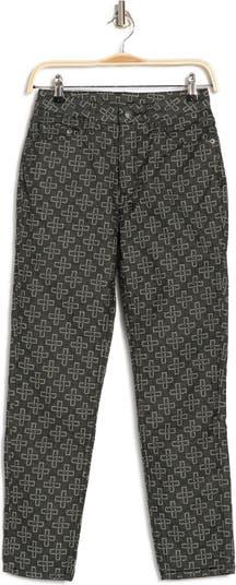 Узкие укороченные брюки с монограммой Ksubi