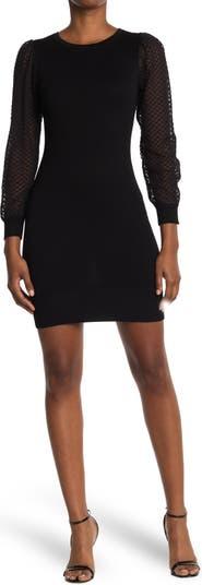 Textured Dobby Long Sleeve Sweater Dress KENEDIK