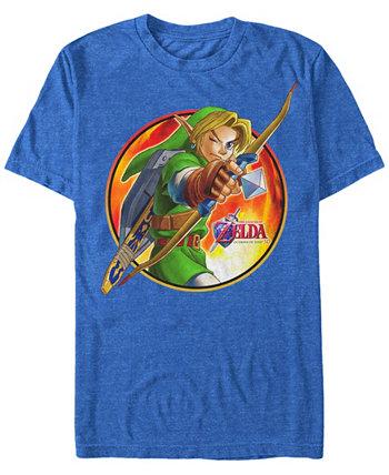 Мужская футболка Legend of Zelda Archer Link с коротким рукавом Nintendo