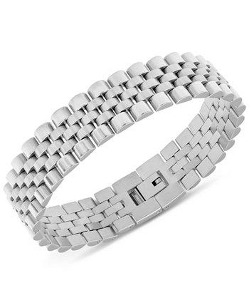 Мужской браслет-цепочка с микро-звеньями из нержавеющей стали Macy's