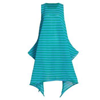 Платье трапециевидной формы без рукавов в хрустальную полоску Issey Miyake