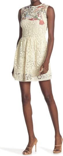 Кружевное платье-майка с вышивкой RED VALENTINO