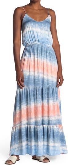 Многослойное платье макси с V-образным вырезом и бретелями Vanity Room