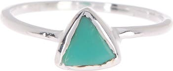 Серебряное кольцо с треугольным камнем из халцедона из стерлингового серебра Pura Vida