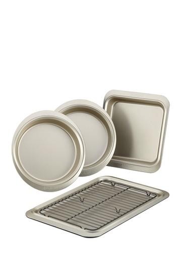 Anolon Allure Набор для выпечки с антипригарным покрытием, 5 предметов, оловянные / оникс Anolon