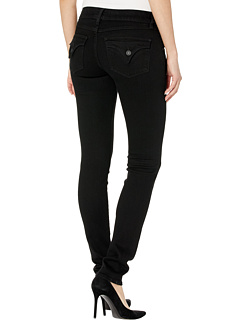 Collin Mid-Rise Skinny в черном Hudson Jeans