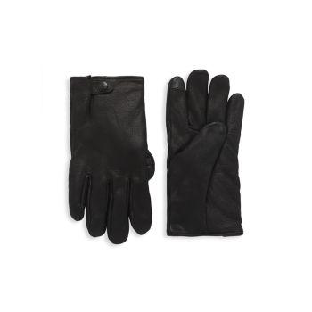 Кожа с вкладками Splice Leather & amp; Перчатки из искусственного меха UGG