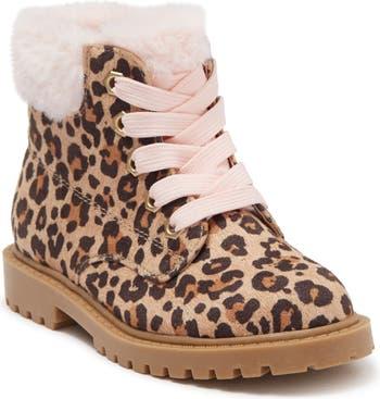 Ботинки на подкладке из искусственного меха с леопардовым принтом Jellypop