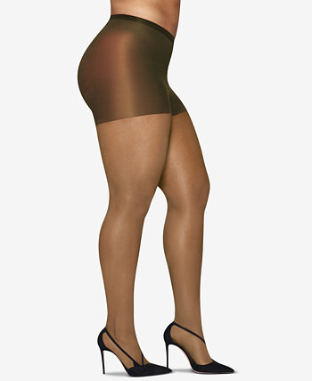 Шелковистые прозрачные колготки больших размеров Curves Hanes