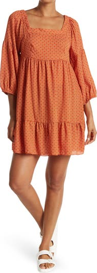 Многоярусное платье прямого кроя с принтом в горошек и воздушными шарами KENEDIK
