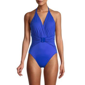 Angelina Draped Open-Back One-Piece Swimsuit Magicsuit