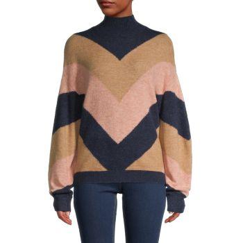 Chevron Pullover Sweater BCBGMAXAZRIA