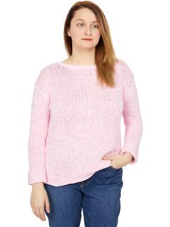 Хлопковый свитер с овальным вырезом и манжетами на рукавах Elliott Lauren