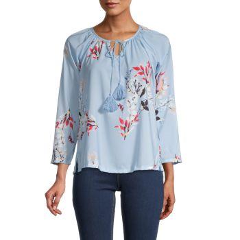Блуза с цветочным принтом STELLAH