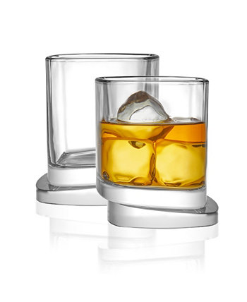 Квадратные бокалы для виски Aqua Vitae Off Base, набор из 2 шт. JoyJolt