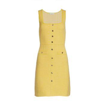 Твидовое мини-платье без рукавов Cannelle Sandro