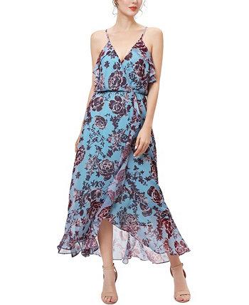 Женское шифоновое платье с цветочным принтом Mei Kimi + kai