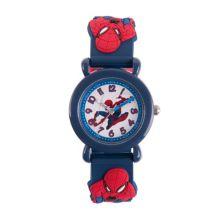 Детские синие пластиковые часы Marvel Spider-Man Marvel