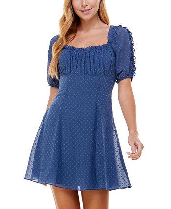 Юниорское платье с квадратным вырезом и расклешенной юбкой City Studios