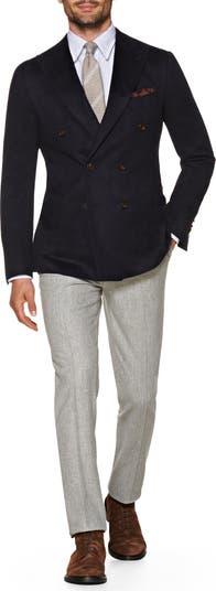 Двубортный пиджак из кашемира с заостренными лацканами SUITSUPPLY