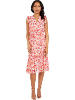 Collared V-Neck Dress Laundry by Shelli Segal