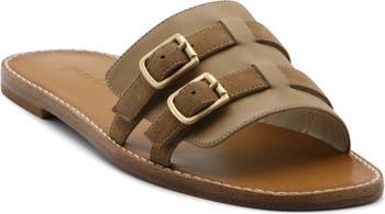 Karson Leather Buckle Slide Sandal Bettye Muller