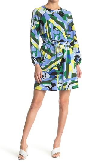Платье с абстрактным принтом и кулиской на талии (Petite) (Petite) Donna Morgan