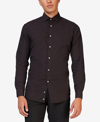 Мужская однотонная рубашка Black Knight OppoSuits