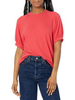 Melina Cozy Lux Puff Sleeve Sweatshirt Velvet by Graham & Spencer