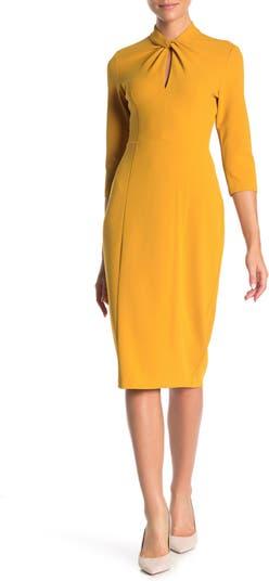 Keyhole Crepe Sheath Dress Donna Morgan