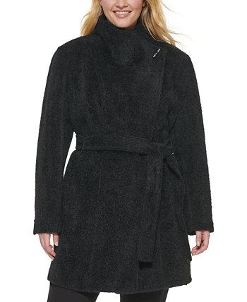 Пальто больших размеров с поясом Calvin Klein