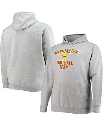 Мужская толстовка с капюшоном с капюшоном для больших и высоких размеров серая Вашингтонская футбольная команда Profile