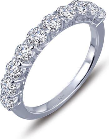 Кольцо из стерлингового серебра с имитацией бриллианта со связкой из платины LaFonn