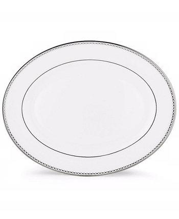 Жемчужно-платиновое овальное блюдо Lenox