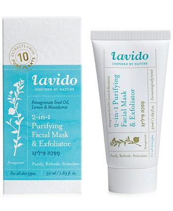 Очищающая маска и отшелушивающее средство 2-в-1 для лица, 1,69 унции. Lavido