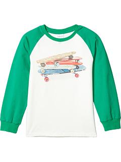 Бейсбольная футболка с принтом для скейтборда (для малышей / маленьких детей / больших детей) Toobydoo