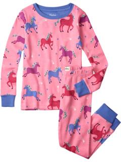 Dreamy Horses Organic Cotton Pajama Set (Toddler/Little Kids/Big Kids) Hatley Kids