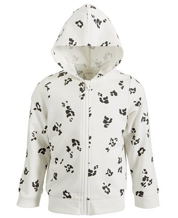 Baby Girls Leopard-Print Hoodie, Created for Macy's First Impressions