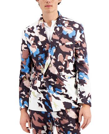 Мужской приталенный пиджак Watson с абстрактным принтом INC, созданный для Macy's INC International Concepts