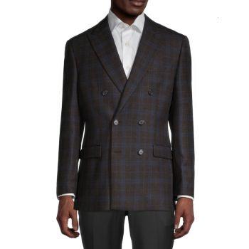Regular-Fit Plaid Wool-Blend Blazer LAUREN Ralph Lauren