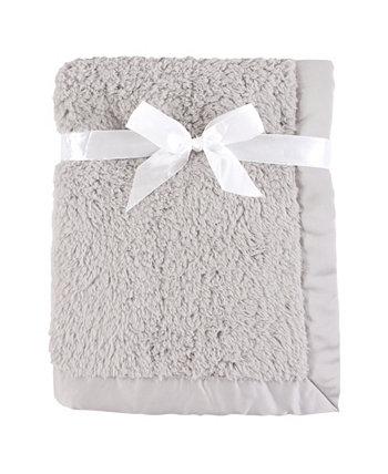 Одеяло из шерпы с атласным переплетом, серое, один размер Hudson Baby