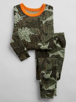 Пижамный комплект с камуфляжным принтом babyGap из 100% органического хлопка с динозаврами Gap Factory