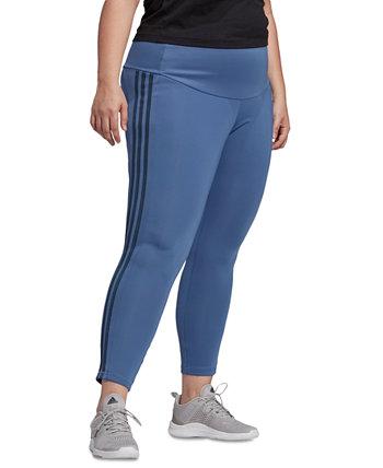 Спортивные колготки больших размеров 2 Move с высокой посадкой и 3 полосками 7/8 размера Adidas