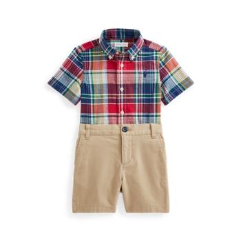 Рубашка Madras и короткий комплект из эластичных чинос Ralph Lauren