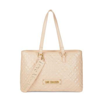 Стеганая сумка-тоут с логотипом LOVE Moschino
