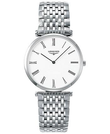 Мужские швейцарские часы La Grande Classique De Longines из нержавеющей стали 36 мм L47554116 Longines