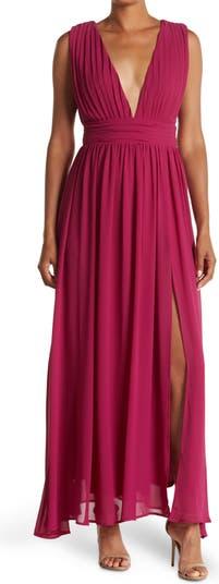 Макси-платье из жоржета без рукавов с глубоким вырезом и V-образным вырезом Love by Design